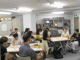 日本郵便年賀寄付金助成事業_ボランティア研修2 _林川玲子先生のお話をきく参加者たち