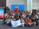 @東京タワー地上 みんな集まってパチリ!