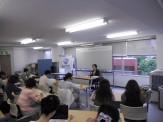 西原先生特別講演会「日本語教室の今、そしてこれから」みなさん熱心に聴講しております。