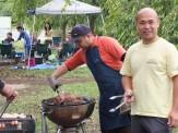 BBQ@木場公園 お肉を焼くボランティアさん!おいしいBBQをありがとうございます!!