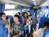 みんなでバスにのって移動しまーす