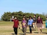 ボランティアさんと学習者、会話も弾みます。