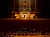 オルガンとトランペットの演奏