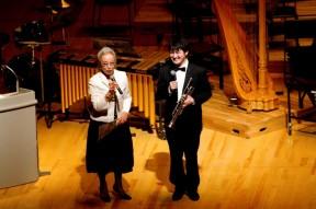 加藤タキさんとコンサートの呼びかけ人である安藤さん(トランペット奏者)