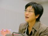 学習支援室を日々コーディネートする矢崎理恵さん。さぽうと21支援室をきってのスーパー先生!