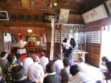 神主さんから鳴子温泉神社のいわれを伺います