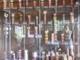 鳴子はこけしで有名な温泉地♪温泉神社にもたくさんのこけしが並んでいました。