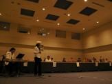 学習発表会にて歌の披露です。